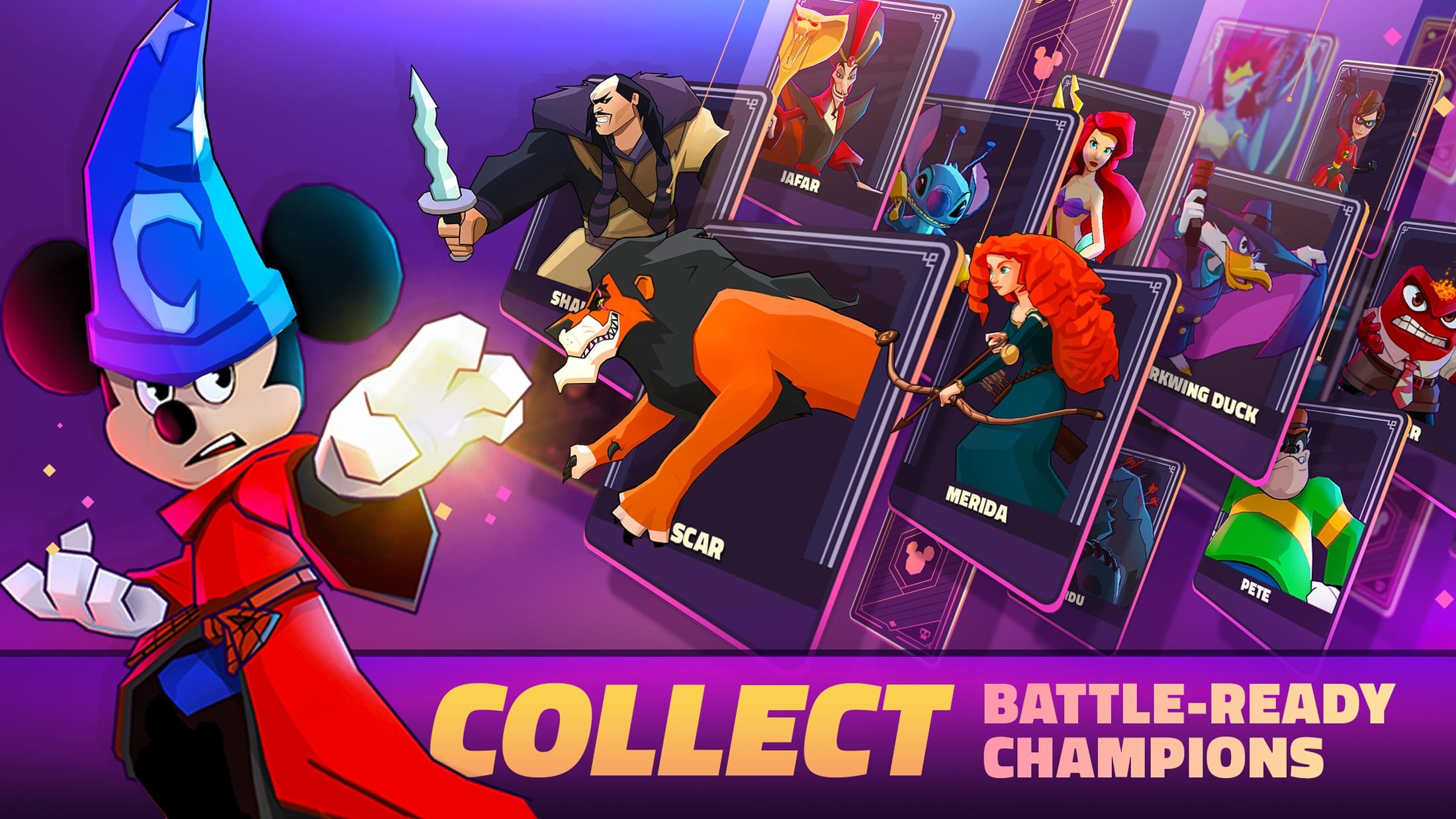 Collect battle-ready champions